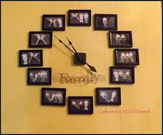diy wall clock, home decor, wall decor