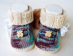 Babyschuhe++von+strickliene+babyschuhe+auf+DaWanda.com