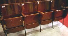 Sedie Cinema anni '60 fila da 4 sedute di Box900 su Etsy