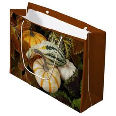 Autumn Squash Photo Large Gift Bag - photography gifts diy custom unique special