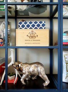 IKEA Vittsjo Shelving Units: Geek Chic Style ikea vittsjo shelves painted navy blue