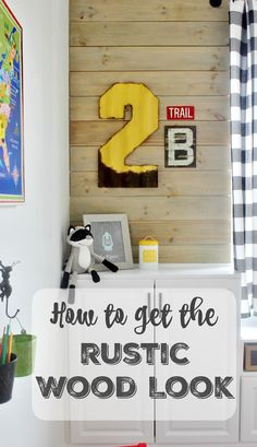 How to get the rustic wood look by mixing stains. Quick and easy way to get a beautiful rustic finish for DIY projects.