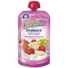 GERBER 4.23 oz Baby Food Yogurt ❤ liked on Polyvore featuring baby, baby food, baby stuff and food