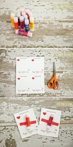 DIY: Stuck On You Class #Valentine #printable #nocandy