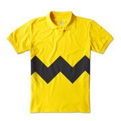 Charlie Brown - Peanuts •  Esta camiseta você encontra em www.cutscene.com.br • snoopy • minduim • zigzag tshirt • movies • cinema • camiseta • camisetas • filme • cartoon • polo charlie brown • yellow tshirt