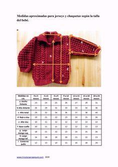Crochet Baby Sweater Pattern, Crochet Hooded Scarf, Baby Sweater Patterns, Crochet Baby Cardigan, Knit Baby Sweaters, Knitted Baby Clothes, Baby Knitting Patterns, Crochet Clothes, Baby Size Chart