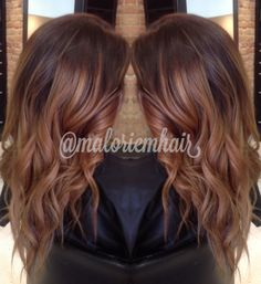 Ombré hair--follow me on Instagram! @maloriemhair (: Formula: lightened (wella blondor) mid-shafts to ends with 20volume Toned with (wella) half oz 9.17, half oz 7.17, & tiny bit of 6.2-10volume
