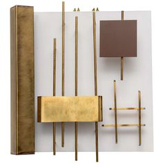A Pair of  Quadri Luminosi Wall Lights by Gio Ponti, Italy, 1960 | From a unique collection of antique and modern wall lights and sconces at https://www.1stdibs.com/furniture/lighting/sconces-wall-lights/