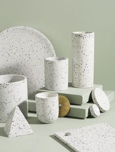 Shop Contemporary Vases Online or Visit Our Showrooms To Get Inspired With The Latest Vases From Zakkia - Terrazzo Vessel Terrazzo, Ceramic Pottery, Ceramic Art, Home Interior, Interior Design, Keramik Design, Material Board, Concrete Design, House And Home Magazine