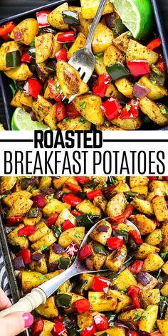 Vegan Breakfast Casserole, Vegan Gluten Free Breakfast, Breakfast Potatoes, Vegan Breakfast Recipes, Delicious Vegan Recipes, Breakfast Dishes, Vegan Snacks, Vegetarian Recipes, Yummy Food