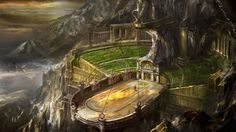 Arena fantasy castle in the country