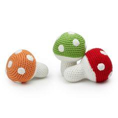 Mario inspired? -- ORGANIC TOADSTOOL RATTLES   Organic Baby Rattle Toy   UncommonGoods