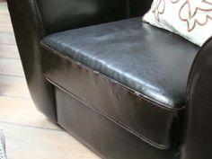 Zestaw wypoczynkowy ze skóry, kanapa + 2 fotele
