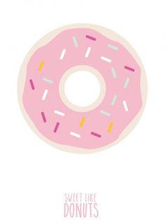 eef lillemor - sweet like donuts print