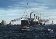 Titanic Ship, Titanic Movie, Rms Titanic, Belfast Attractions, Titanic History, Beyond The Sea, Ship Paintings, Visionary Art, Battleship