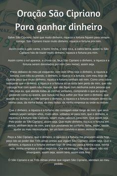 #Oração São #Cipriano Para ganhar dinheiro
