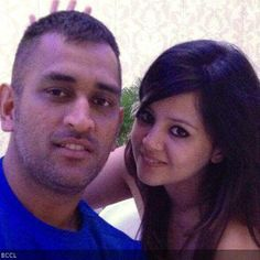 MS Dhoni and his wife Sakshi clicked during IPL 7, in UAE.