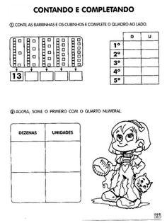 15 Atividades unidade e dezena para imprimir Word Search, Words, Tens And Units, Math Notebooks, Math Worksheets, Classroom