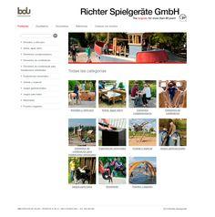 RICHTER Web corporativa de productos para espacios de juego que ofrece BDU. http://richter.bdu.es/
