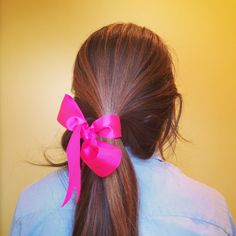 Ribbon and such a pretty hair color I Like Your Hair, Love Hair, Pretty Hairstyles, Easy Hairstyles, Hair Day, My Hair, Pretty Hair Color, Cut Her Hair, Hair Beauty