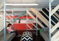 A tight budget. Evernote's new offices in Redwood City, California. 80,000 square feet, Studio O+A