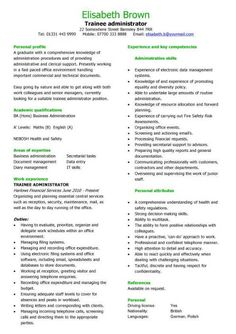 trainee administrator resume objective read more httpwwwsampleresumeobjectives - Resumescom