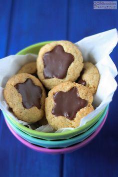 Galletas estrellas de chocolate