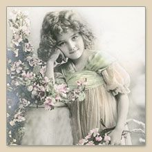 Serwetka do decoupage Flower Girl Vintage - sklep Decoupage Art.pl