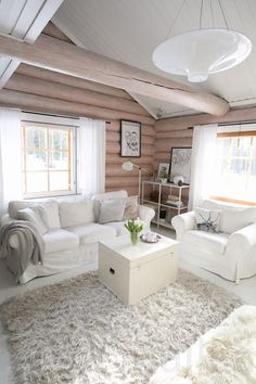 Best 35 Home Decor Ideas - Lovb Modern Interior, Home Interior Design, Cottage Interiors, House In The Woods, Log Homes, Outdoor Furniture Sets, Living Room, Home Decor, Country