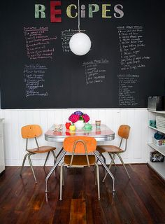 Don't Use Chalkboard and Magnetic Paint Until You Read This!How to make chalkboard paint -TIP - Use chalk pens on chalkboards to minimize the mess
