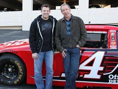 "2/9/2012  NASCAR champion Tony Stewart and actor Tim Allen, in front of the three-time champion''s No. 14 Chevrolet that was used on ABC''s ""Last Man Standing"" episode."