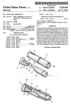 Duck Commander patent page 1