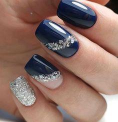 nail art designs for winter * nail art designs . nail art designs for spring . nail art designs for winter . nail art designs with glitter . nail art designs with rhinestones Black Nail Designs, Winter Nail Designs, Cute Nail Designs, Classy Nails, Stylish Nails, Winter Nail Art, Winter Nails, Nail Ideas For Winter, Winter Art