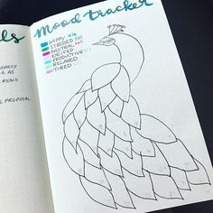 I wanted to thank @alookintomyjournal for this beautiful tracker that fit perfectly with my peacock theme this month. I can't wait to see how all the colors come together once the month is over! ❤8.3.17 // #bulletjournal #bulletjournaling #bulletjournalcommunity #bulletjournaladdict #bulletjournaljunkies #bujo #bujocommunity #bujojunkies #bujoaddict #bujospread #moodtracker #leuchtturm1917 (EDIT: the account mentioned above has since been deleted but I did want to give proper credit where it…