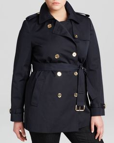 Michael Michael Kors Plus Double Breasted Trench Coat