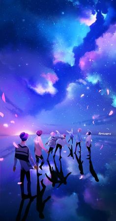 Beautiful BTS fanart! Spring days arrive when you never walk alone