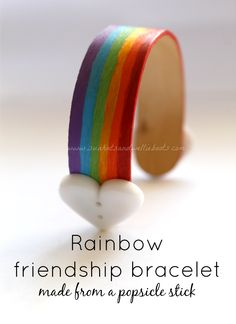Sun Hats & Wellie Boots: Rainbow Friendship Bands for St Patrick's Day