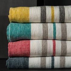 Torchon en lin lavé avec rayures (3 couleurs) Roma Harmony - la mercerie de la rue Brisson distribue cette marque