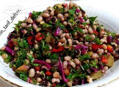 Cowpea Salad (Great) – My Delicious Food - Grillen Black Eyed Peas, Black Eyed Pea Salad, Thyme Recipes, Soup Recipes, Salad Recipes, Soup & Co, Turkish Salad, Diet And Nutrition, Family Meals