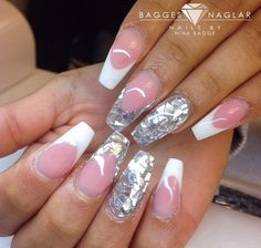 Nails french silver
