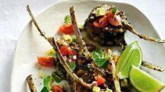 David Herbert's lamb chops with avocado salsa. Picture: Guy Bailey