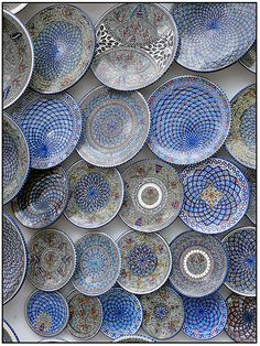 Beautiful Blue Patterned Bowls from The Grand Bazaar Istanbul