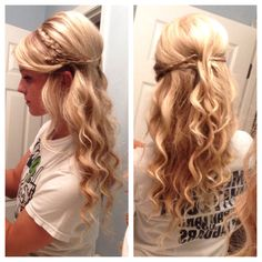Instead of curls, I'd go with casual waves for a night on the town or a date :)