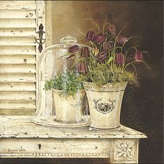 kathrynwhitecanvasart fritillaria cloche medium art print by