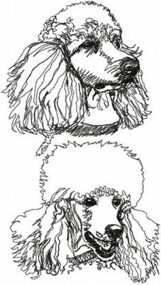 So fun....Advanced Embroidery Designs - Poodle Set