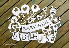 On Sale! Baby Girl Papercut Template SVG Cutting File For Cricut Design Space & PDF Cut Your Own Printable, Instant Download, Commercial Use by DigitalGems on Etsy