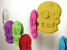 Day of the Dead Decoration Sugar Skull Decor. $12.00, via Etsy.