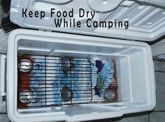 Camp tip. I always hate digging in the cold water and pulling out bags with water and soggy food.