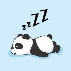 Animais Preguiçosos Do Sono Dos Desenhos Animados Da Panda