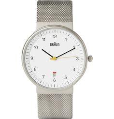 Braun x Dieter Rams- Stainless Steel Watch
